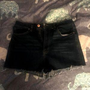 Forever 21 Dark Denim Shorts